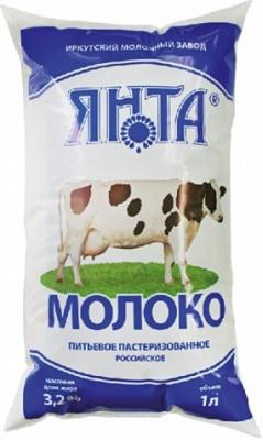 """Молоко """"Российское"""" 3,2% п/пак 1,0 л."""