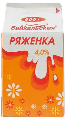 Ряженка 4%, т/пак 0,5 кг