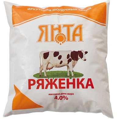 Ряженка 4% т/пак 0,5 кг