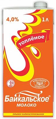 Молоко Байкальское 4,0% топл. 1л с крыш
