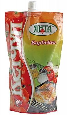 """Кетчуп нестерилизованный первой категории """"Барбекю"""", дой-пак с доз. 0,5 кг."""