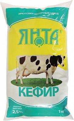 Кефир 2,5% п/пак 1,0 кг