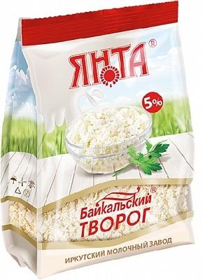 """Творог """"Байкальский"""" 5%, пакет 0,5 кг."""