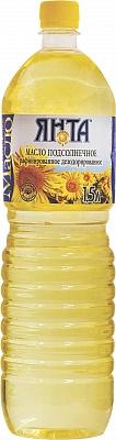 """Масло подсолнечное рафинированное дезодорированное """"Высший сорт"""" вымороженное, бутылка 1,5 л"""