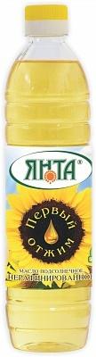 """Масло подсолнечное нерафинированное """"Высший сорт"""", бутылка 0,5 л"""