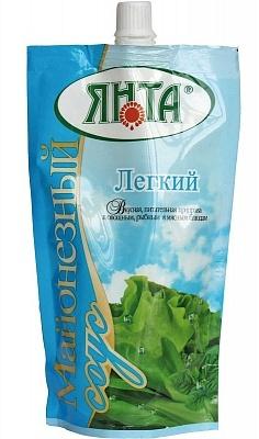 """Соус майонезный """"Легкий"""" с массовой долей жира 15%, дой-пак с доз. 0,4 кг"""