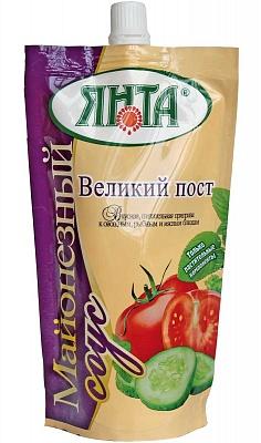"""Соус майонезный """"Великий пост"""" с массовой долей жира 30%, дой-пак с доз. 0,2 кг"""