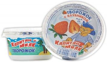 """Творожок """"Вишня"""", """"Клубника"""" 6% 0,15 кг"""