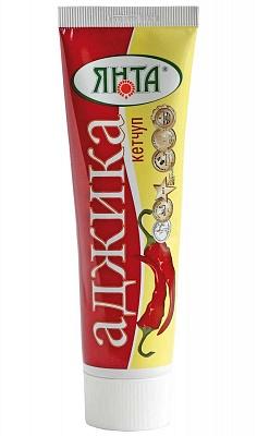 """Кетчуп нестерилизованный первой категории """"Аджика"""", туба 0,1 кг."""