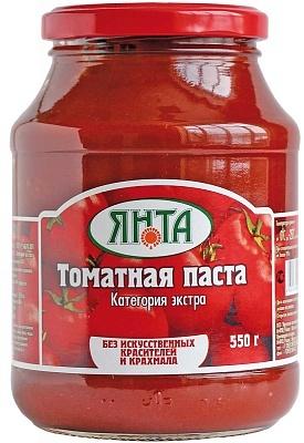 """Паста томатная с массовой долей  растворимых сухих веществ 25% сорт """"Экстра"""", ст/банка 0,55 кг."""