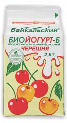 """Биойогурт 2,5% """"Черника"""", """"Черешня"""" т/пак 0,5 кг"""