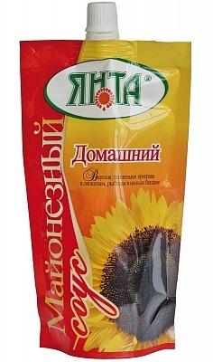 """Соус майонезный """"Домашний"""" с массовой долей жира 25%, дой-пак с доз. 0,2 кг"""