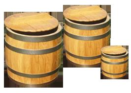 Подарочные омулевые бочки в зависимости от веса (0,7 кг.; 1,0 кг.; 2,5кг)