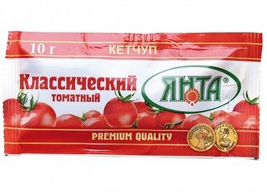 """Кетчуп нестерилизованный высшей категории """"Томатный Классический"""", пакет  10 гр."""