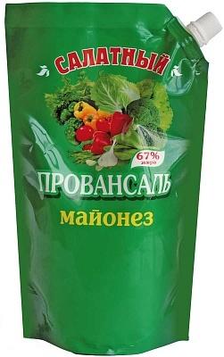 """Майонез """"Салатный Провансаль"""" с массовой долей жира 67%, дой-пак 0,8 кг."""