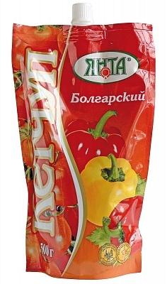 """Кетчуп нестерилизованный первой категории """"Болгарский"""", дой-пак с доз. 0,33 кг."""