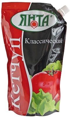 """Соус-кетчуп нестерилизованный второй категории """"Классический"""", дой-пак с доз. 0,9 кг."""